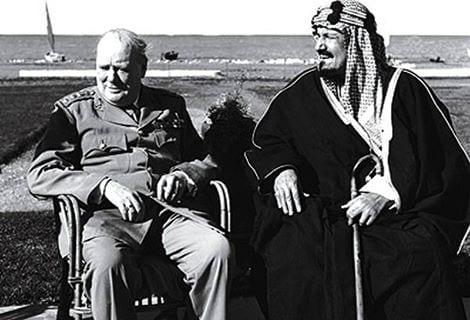 عبد العزيز مع تشرشل