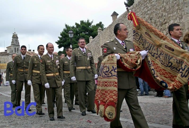 راية العقاب في احتفالات إسبانيا بسقوط الأندلس