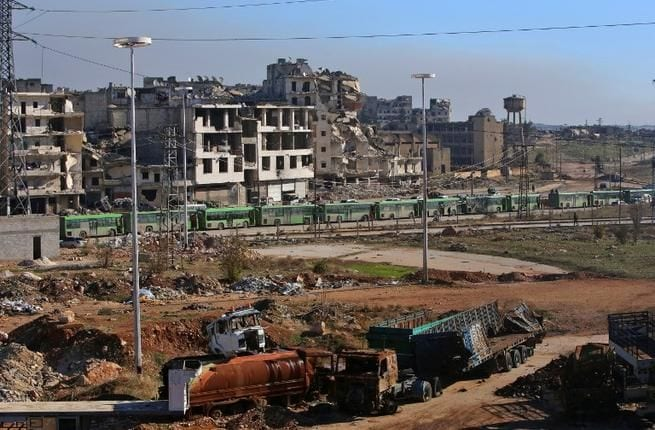 تدمير النظام السوري لمدينة حلب