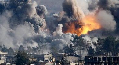 قصف التحالف الدولي للرقة والموصل