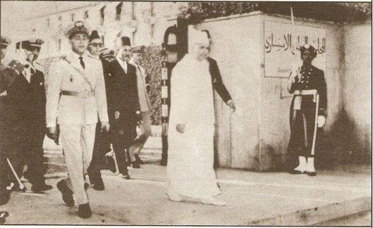 عودة محمد الخامس من المنفى إلى البلاد بعد استقلال المغرب