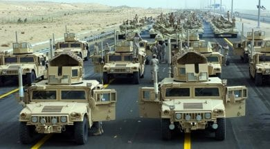 U.S. Military rehearses for Kuwait's 50-20 Parade